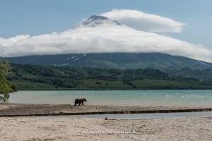 Kurilensee mit Vulkan Illinsky