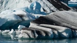 Eis vom Vatnajökull im Jökulsarlon
