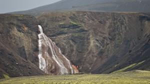 Wasserfall in Landmannalaugar